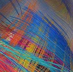 L'image est parlante. Ce n'est pas un gros plan sur un vêtement en textile, mais les fibres du cerveau telles qu'elles ont été observées chez le macaque rhésus Macaca mulatta. Cela forme un vrai quadrillage. © Van Wedeen, Martinos Center for Biomedical Imaging, Massachusetts General Hospital